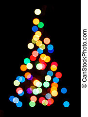 silhouette, von, weihnachtsbaum