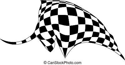 silhouette, vrijstaand, achtergrond., vector, stier, illust, witte