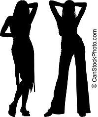 silhouette, vrouwen