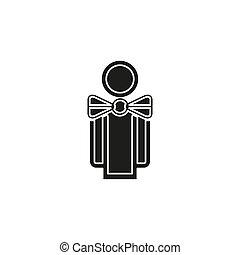 silhouette waiter, waiter man illustration