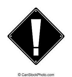 silhouette warning alert attention sign icon