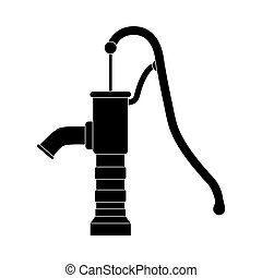 silhouette water pump design isolated on white background