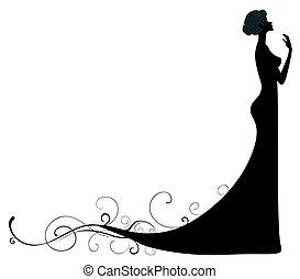 silhouette, weibliche