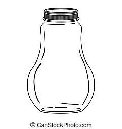 silhouette wide glass bottle with lid
