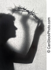 Silhouette With A Crown Of Thorns
