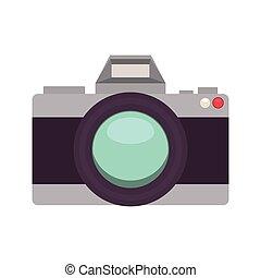 silhouette with analog photo camera