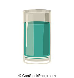 silhouette with drink in color green aquamarine