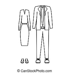 silhouette with formal suit clothing