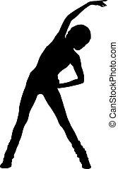 silhouette woman aerobic