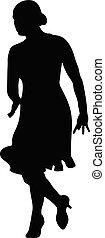 silhouette woman dancer