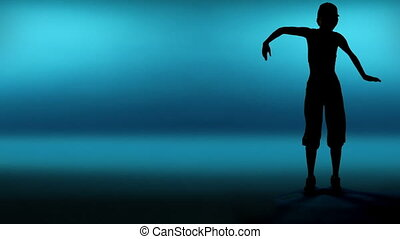 silhouette woman dancer