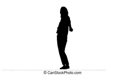 Silhouette woman dancing - A silhouette woman dancing...