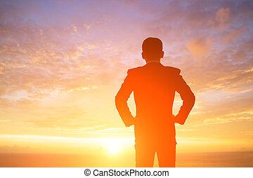 silhouette, zakenmens