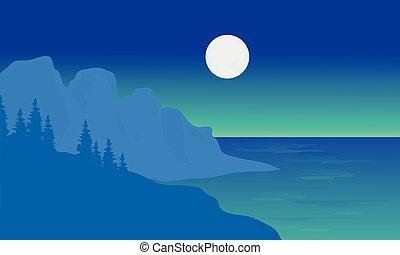 silhouette, zee, maan