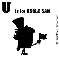 Silhouetted Uncle Sam With U