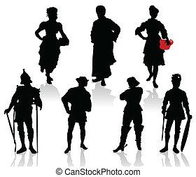 silhouetten, akteure