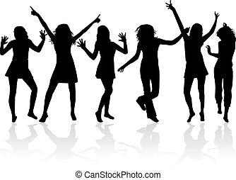 silhouetten, tanzen