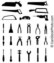 silhouetten, werkzeuge