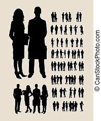 silhouettes, affaires gens