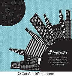 silhouettes, bâtiments