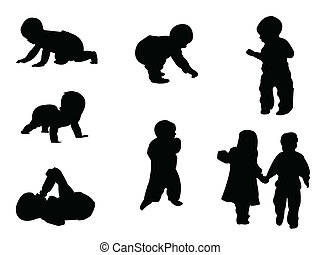 silhouettes, baby, -