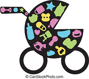 silhouettes baby bottle icons for toddler, newborn and...