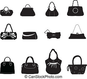 silhouettes bags for shopping, ladies stuff