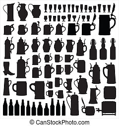 silhouettes, beerware