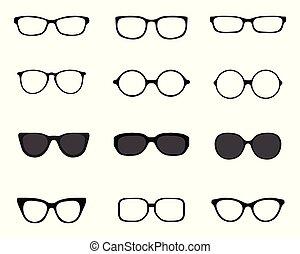 silhouettes, brillen, black , anders