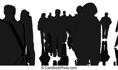 silhouettes, businesspeople