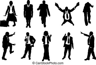 silhouettes, busniess, gens, concept