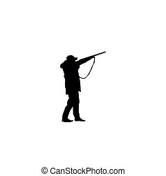 silhouettes, chasse