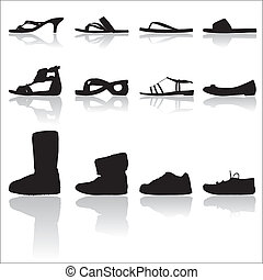 silhouettes, chaussures