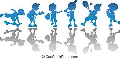 silhouettes children education