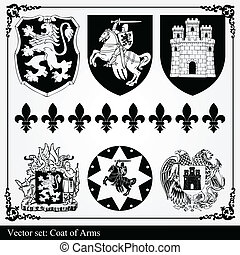 silhouettes, communie, heraldisch