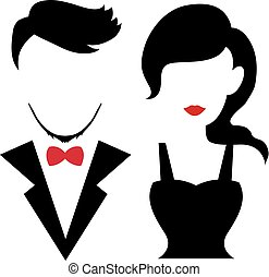 Silhouettes Couple, Wedding, Romance and Valentine