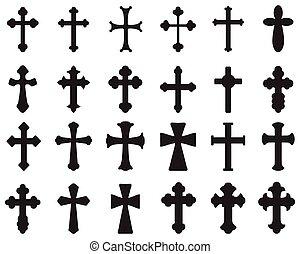 silhouettes, croix