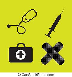 silhouettes, de, monde médical, articles
