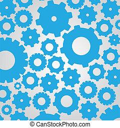 silhouettes, de, pignon bleu
