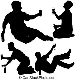 Silhouettes - Drinking 4
