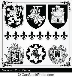 silhouettes, elementara, heraldisk