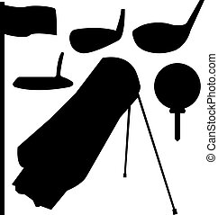 silhouettes, ensemble, golf