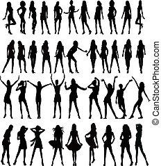 silhouettes, erotický