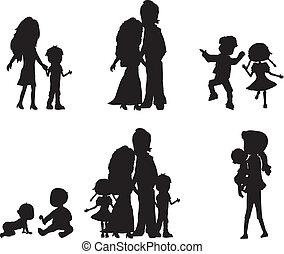 silhouettes family