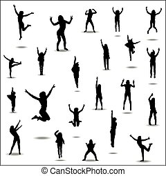 Silhouettes for sports