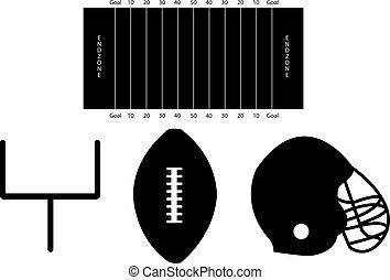 silhouettes, fotboll