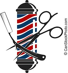 silhouettes, frisersalong, verktyg