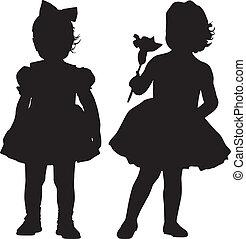 silhouettes, geitjes