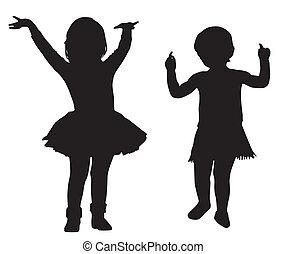 silhouettes, gosses
