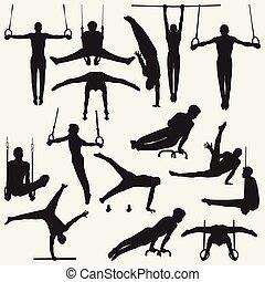 Silhouettes Gymnastic